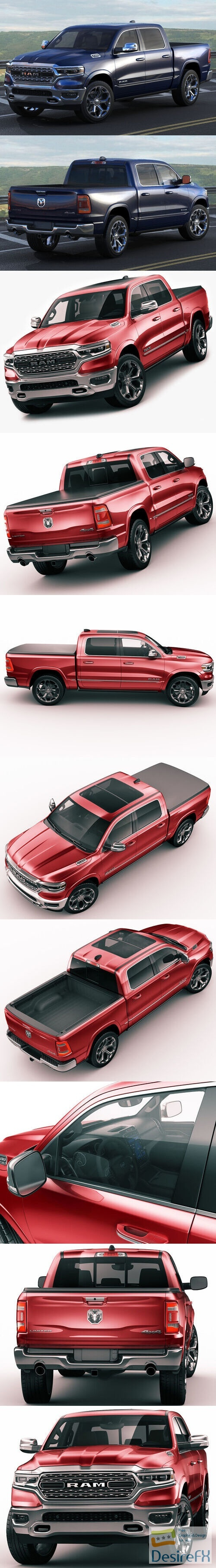 Ram 1500 Limited 2019 3D Model