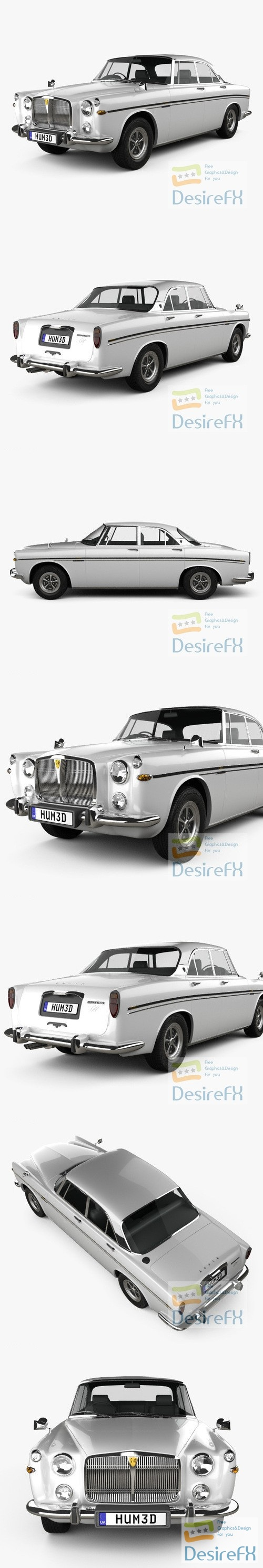 Rover P5B coupe 1973 3D Model