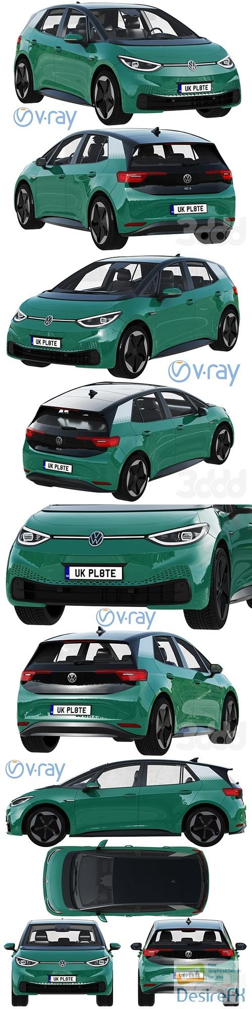Volkswagen ID3 2021 3D Model