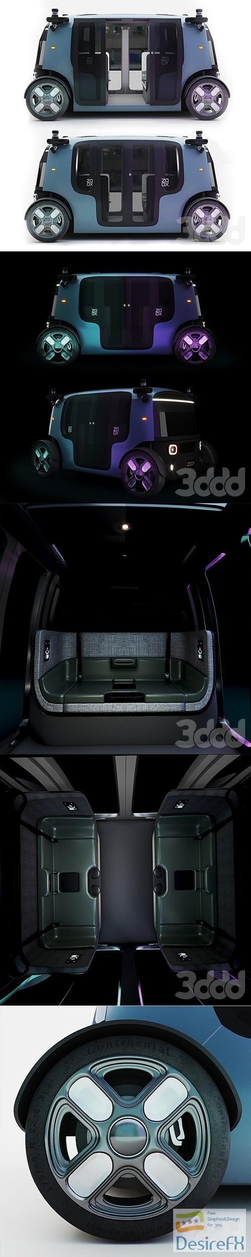 Zoox Smart Car 3D Model
