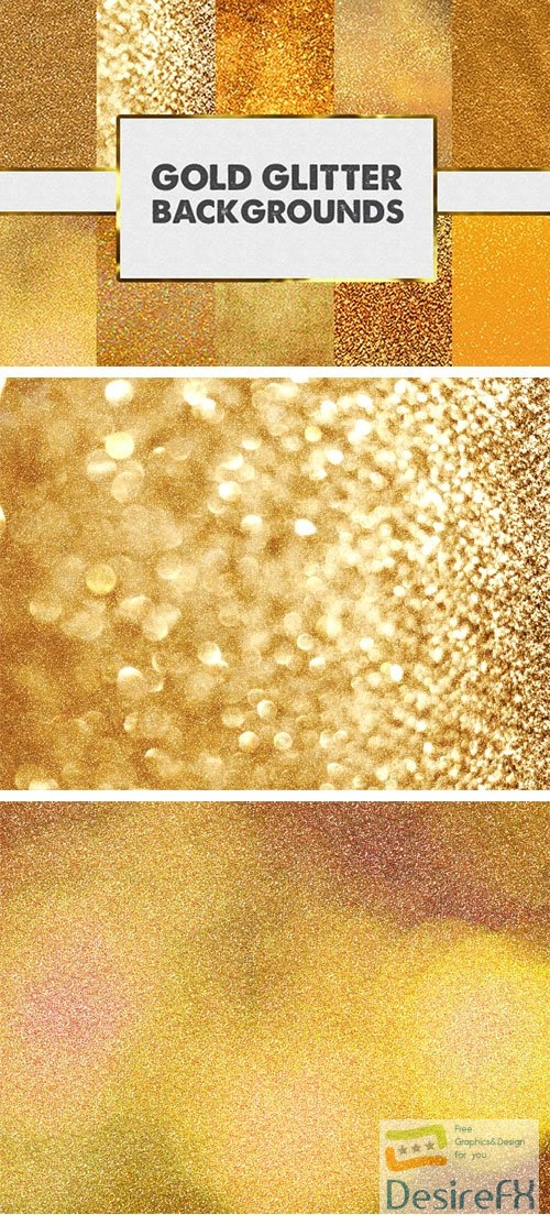 10 Gold Glitter Backgrounds Collection