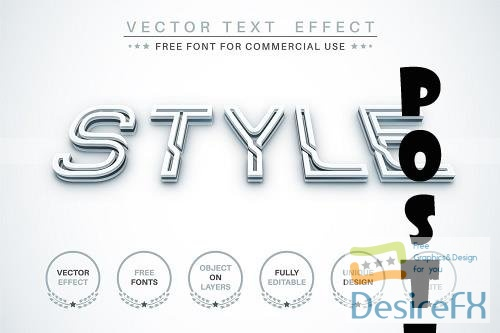 3D White - editable text effect - 6299282