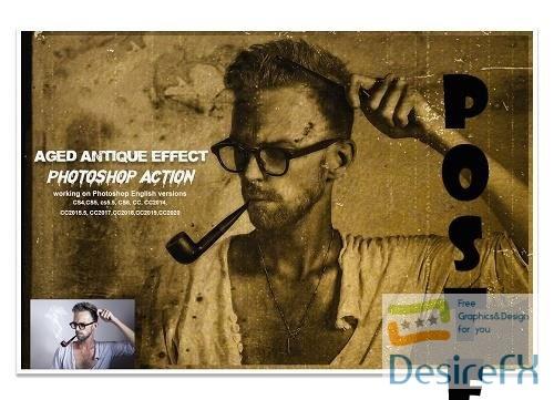 Aged Antique Effect Photoshop Action - 5657752