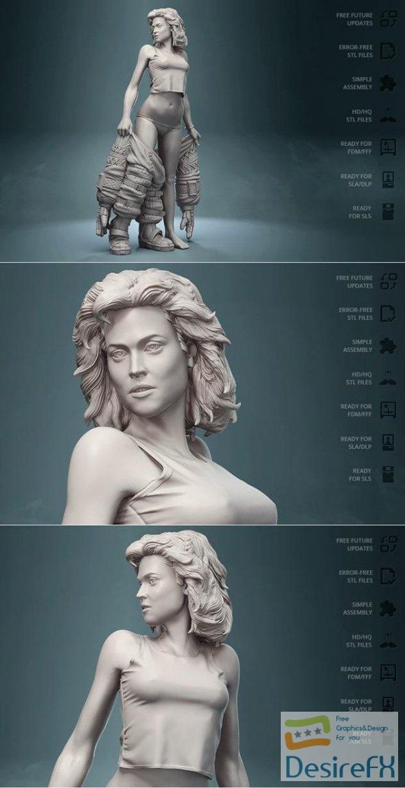 Alien Ellen Ripley Unterwaesch 3D Print