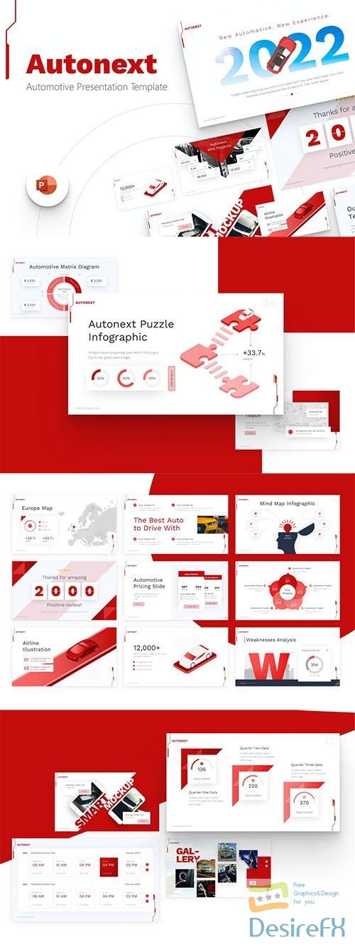 Autonext Automotive Modern PowerPoint Template