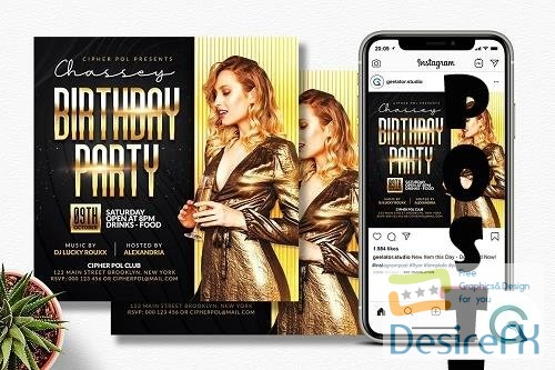 Birthday Party Flyer Template - 6333495