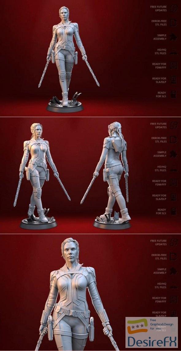 Black Widow 3D Print