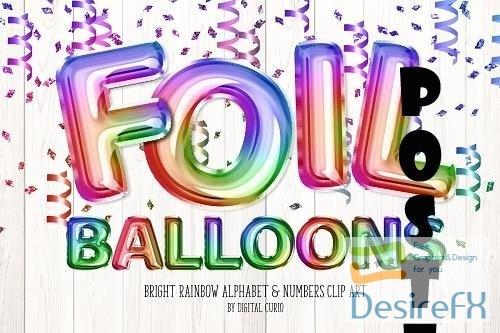 Bright Rainbow Balloon Alphabet - 5757901