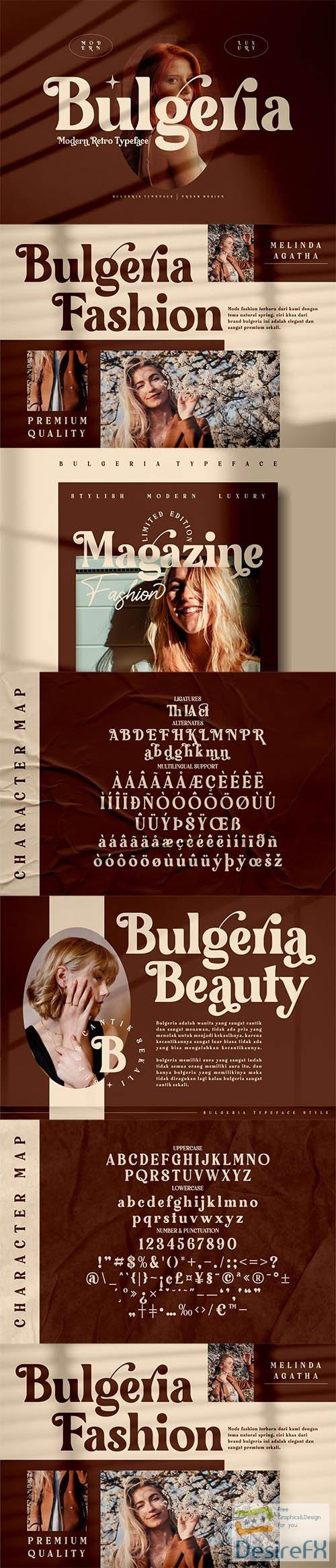 Bulgeria Classy Serif Font 6274173