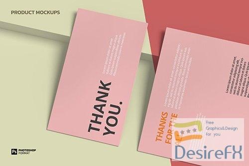 Business Card and Letterhead - Mockup WRCD6ER PSD