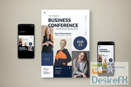 Business Conference Flyer Set ZTDJGNW