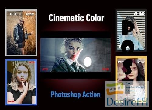 Cinematic Color Photoshop Action - 4514200