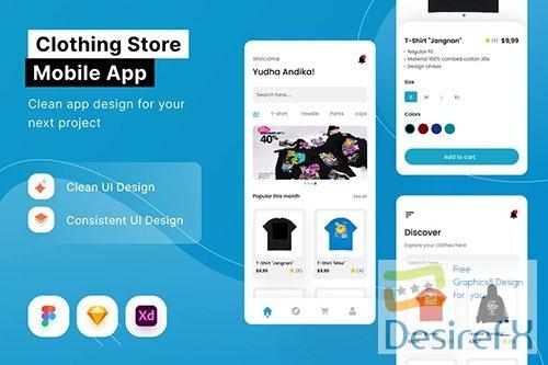 Clothing Store Mobile App 3V7SH9P