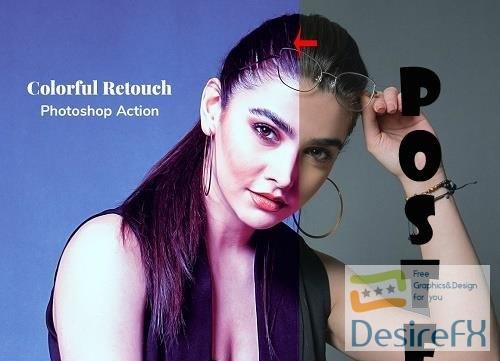 Colorful Retouch Photoshop Action - 5054925