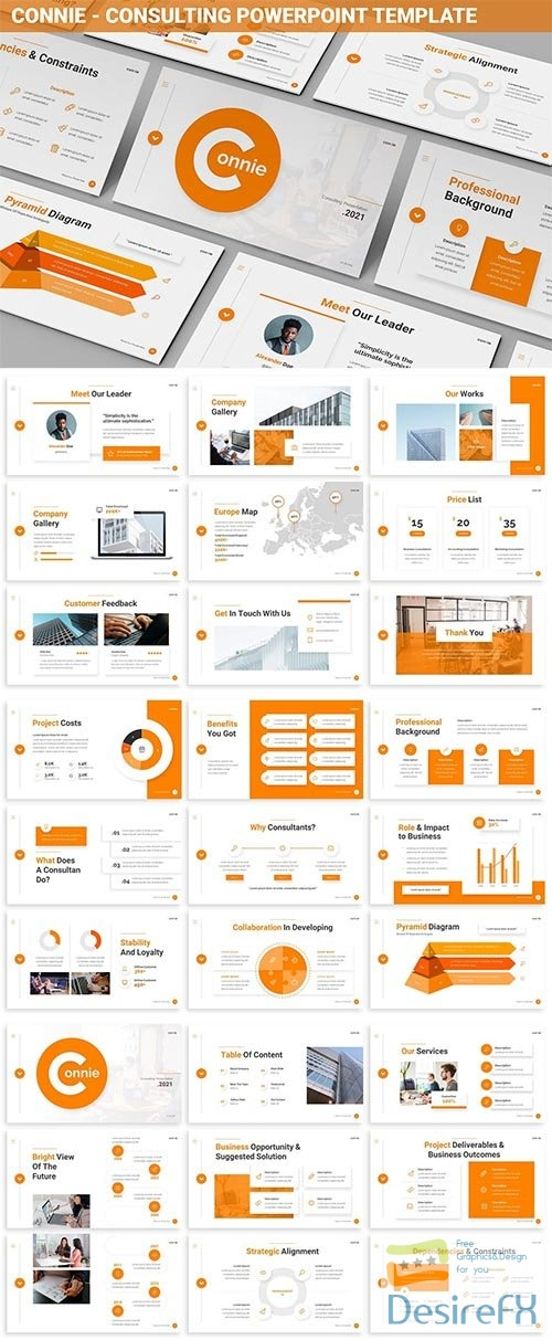 Connie - Consulting Powerpoint Template