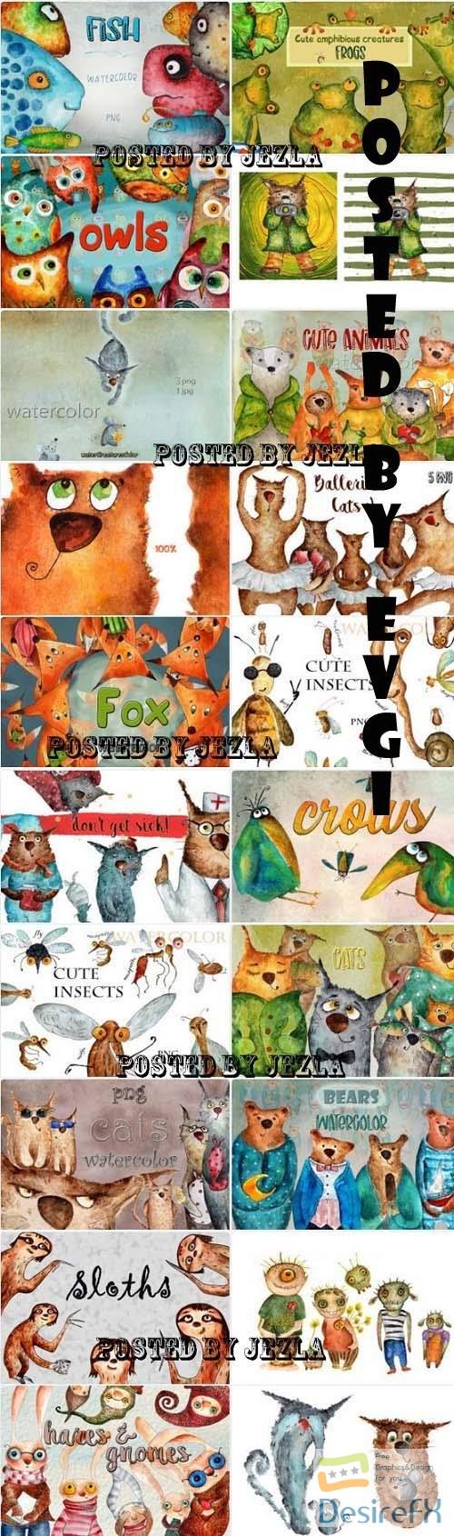 Cute Animals Collection - 20 Premium Graphics