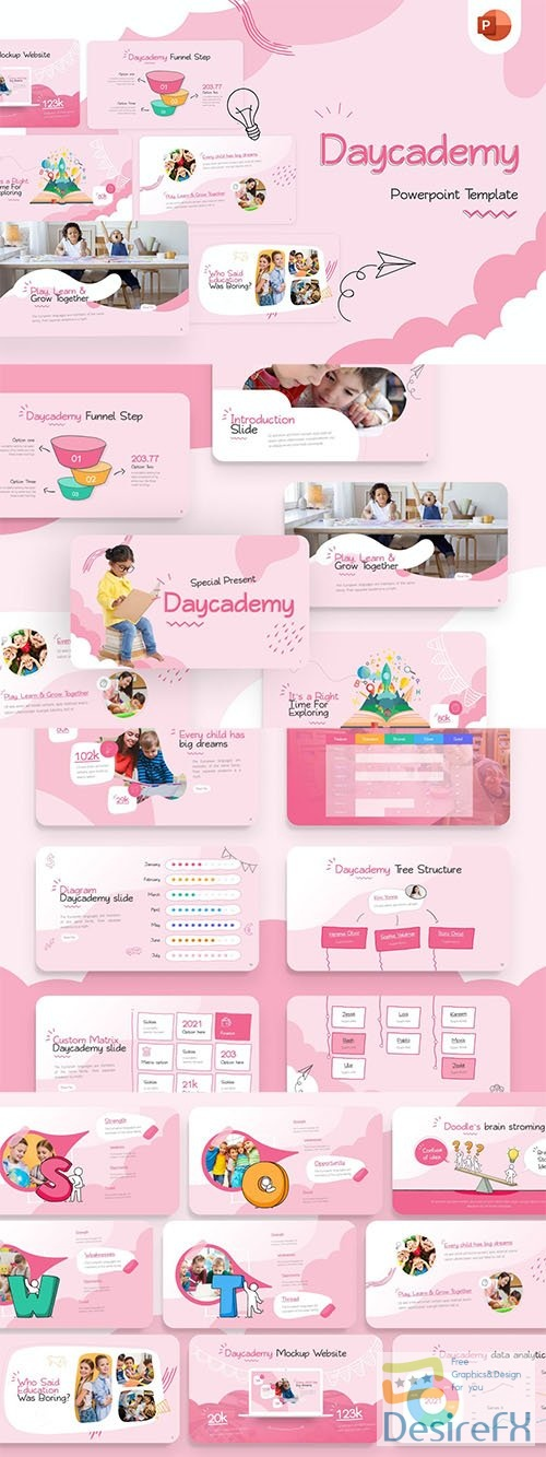 Daycademy Education Creative PowerPoint Template