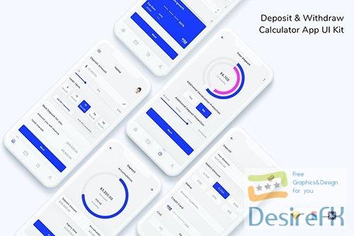 Deposit & Withdraw Calculator App UI Kit