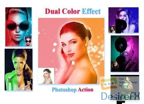 Dual Color Effect Photoshop Action - 4524037