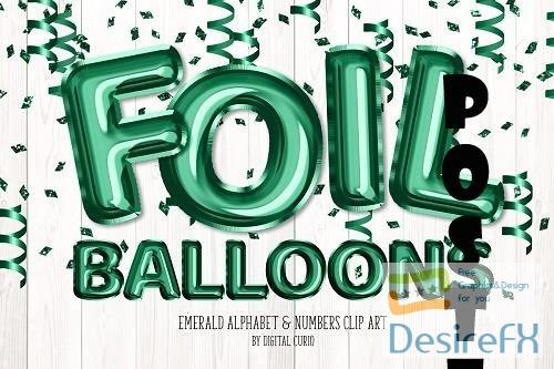 Emerald Foil Balloon Alphabet - 5757917