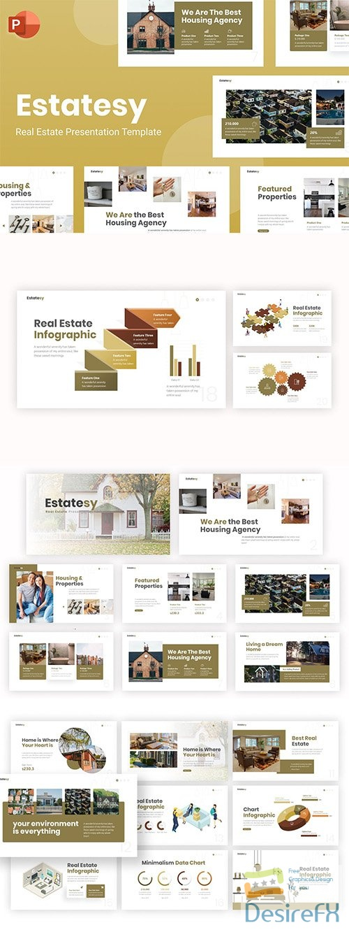 Estatesy Real Estate PowerPoint Template