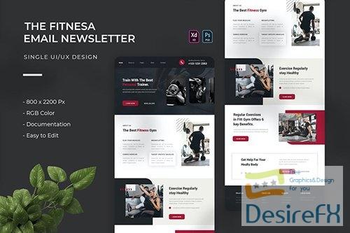 Fitnesa | Email Newsletter 8LHBBWP