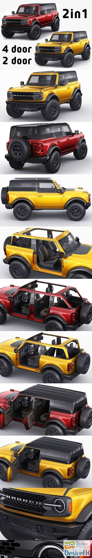 Ford Bronco 2021 4-door and 2-door 3D Model