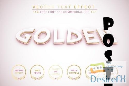 Gold braid - editable text effect - 6298645