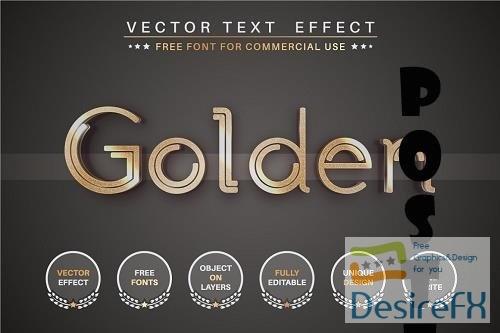 Golden story - editable text effect - 6276812