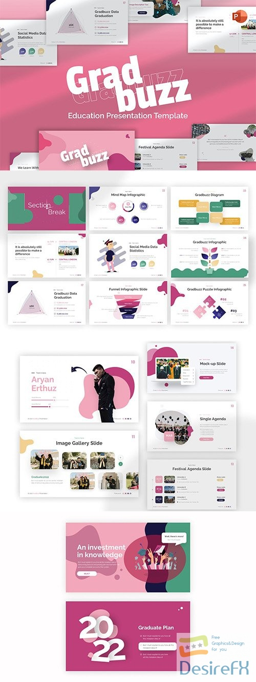 Gradbuzz Education Creative PowerPoint Template