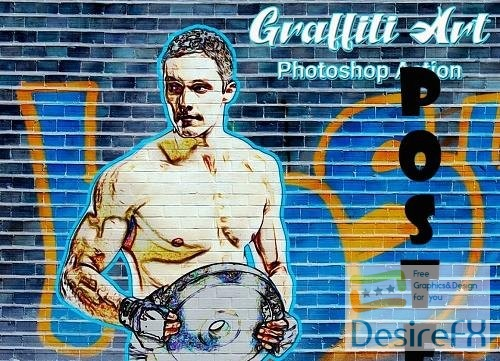Graffiti Art Photoshop Action - 4751742