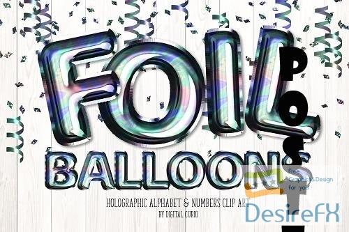 Holographic Foil Balloon Alphabet - 5757926