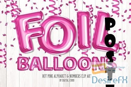Hot Pink Foil Balloon Alphabet - 5760677
