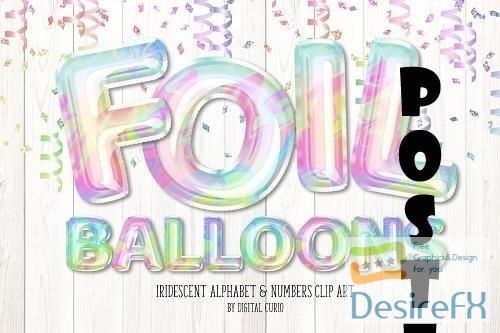 Iridescent Foil Balloon Alphabet - 5760696