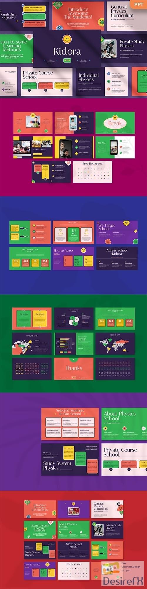 Kidora - Kids Powerpoint, Keynote and Google Slides Template