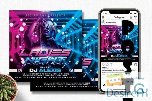 Ladies Night Party Flyer Template - 6333374
