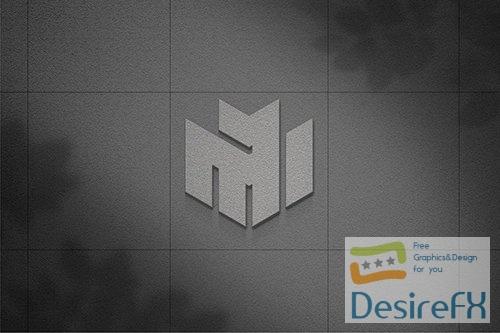 luxury wall logo mockup YXZJ37D PSD