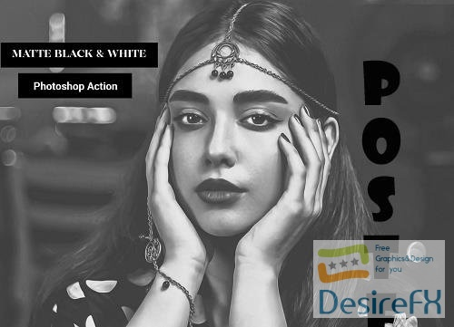 Matte Black & White Photoshop Action - 5090738