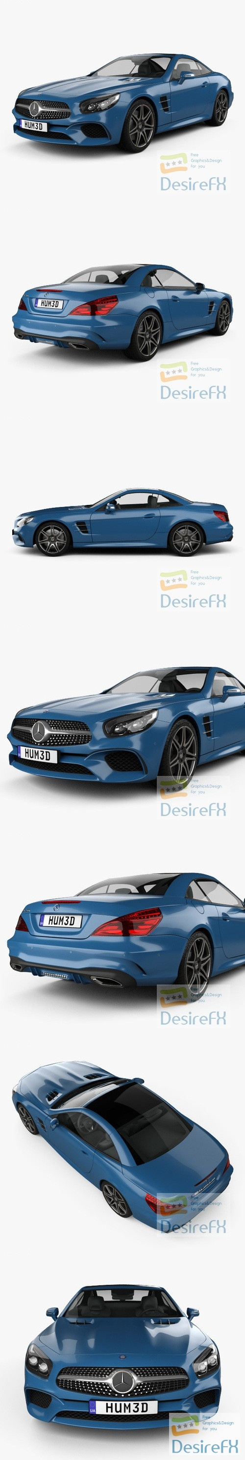 Mercedes-Benz SL-Class 2015 3D Model