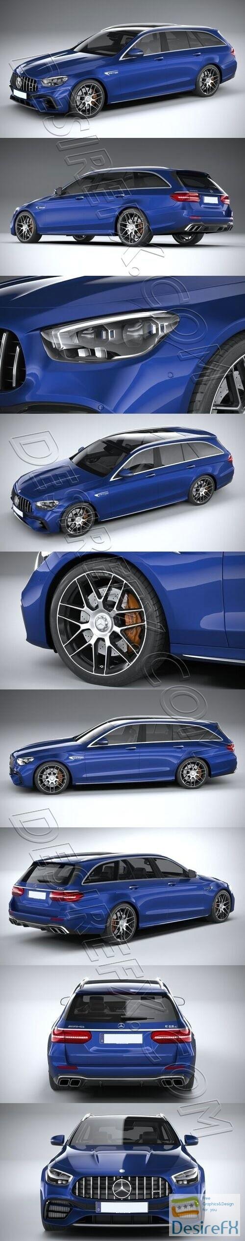 Mercedes E63 Estate AMG 2021 3D Model