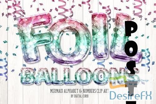 Mermaid Foil Balloon Alphabet - 5760702