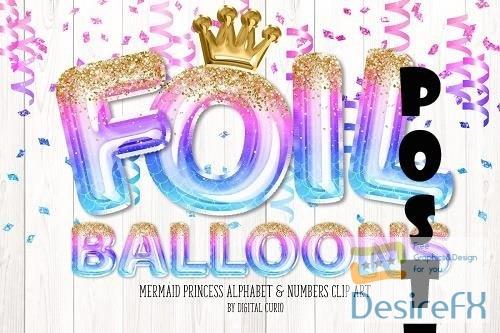 Mermaid Princess Balloon Alphabet - 5760704
