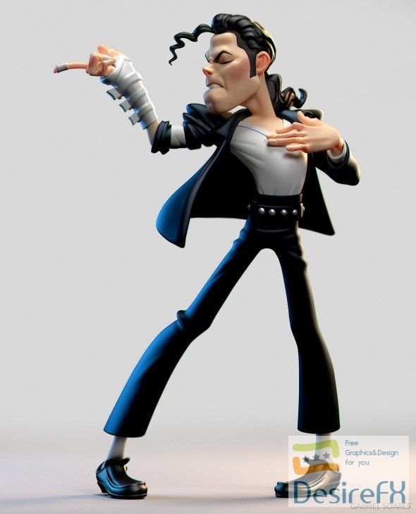 Michael Jackson Cartoon 3D Print