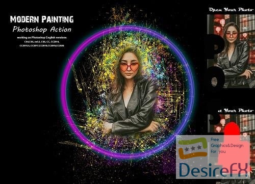Modern Painting Photoshop Action - 5383121