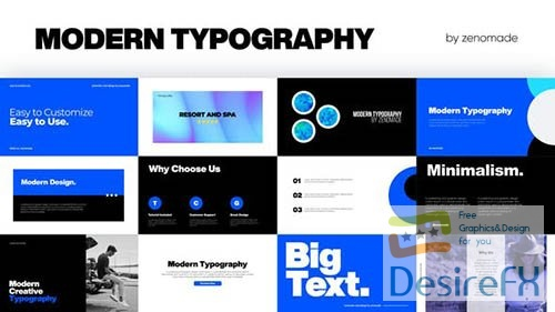 Modern Typography Pack 33240136