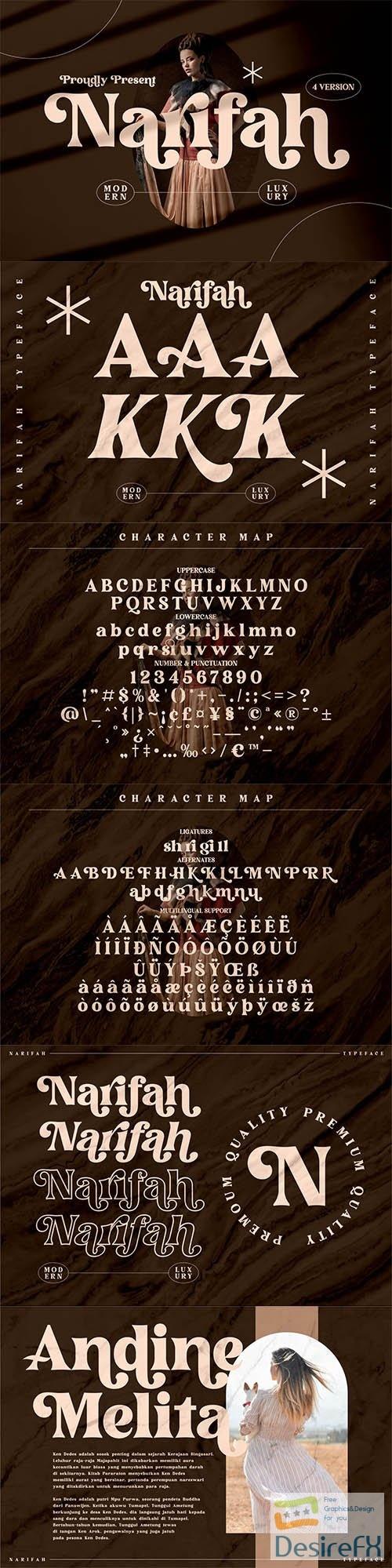 Narifah Modern Serif Font 6274287