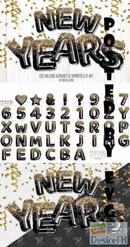 New Years Balloon Alphabet - 5760714