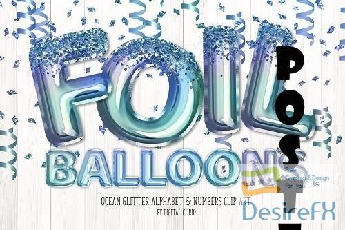 Ocean Glitter Balloon Alphabet - 5760725