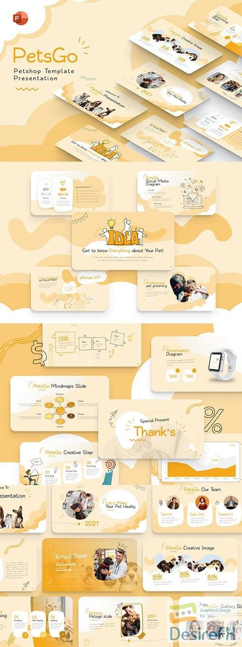 PetsGo Petshop Creative PowerPoint Template