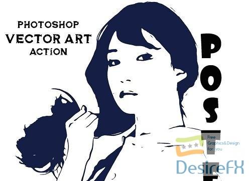 Photoshop Vector Art Action - 5106461